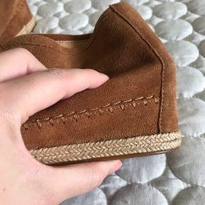 Crown Vintage Shoes - Crown Vintage Leather Wedge Booties